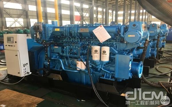 搭载潍柴重机170系列柴油机的船用发电机组交付浙江客户