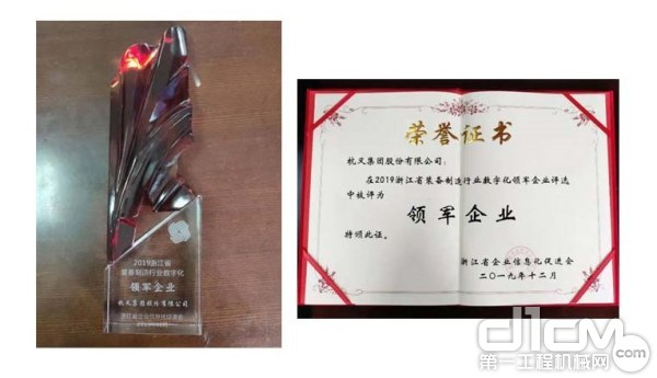 奖杯及获奖证书
