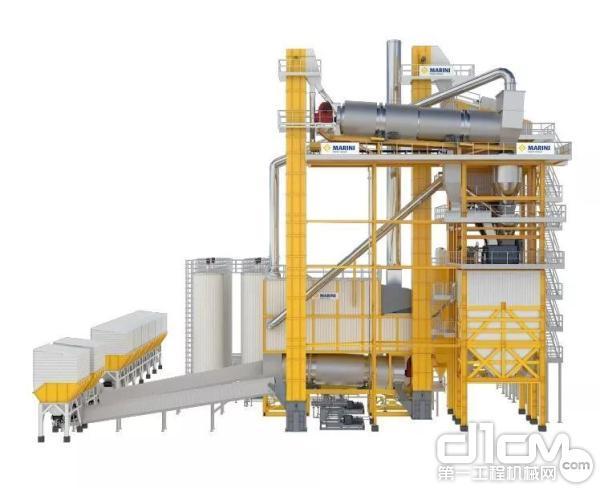 玛连尼FRT360一体式再生沥青搅拌站
