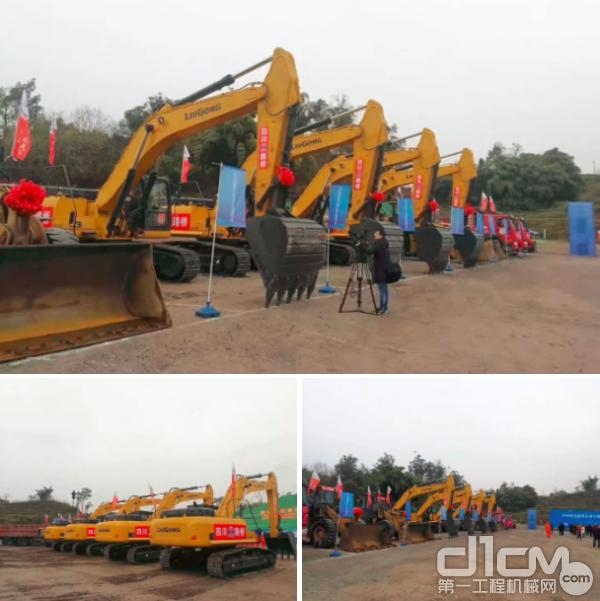 柳工设备助力泸州市交通建设