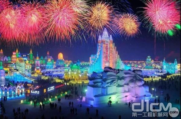 第21届哈尔滨冰雪大世界正式开园迎客
