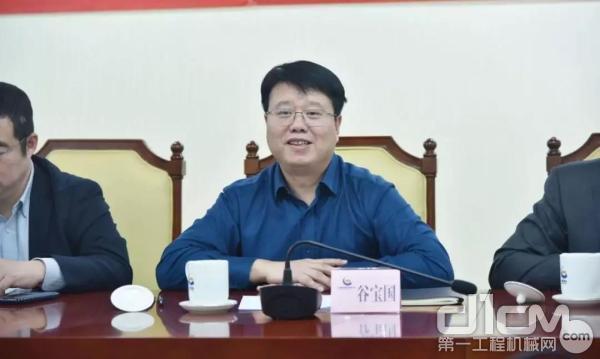 中国黄金集团资产管理有限企业总经理、中鑫租赁企业董事长谷宝国