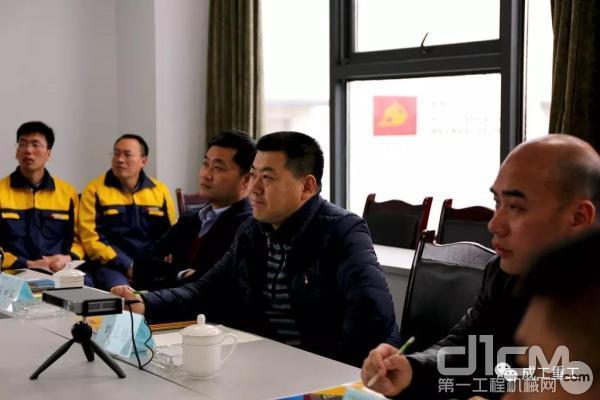安能集团第三工程局刘总作考察总结发言
