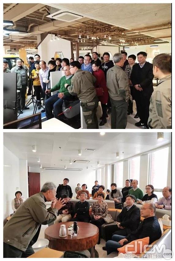 与会人员参观石家庄天远科技集团