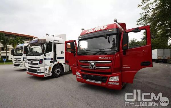 马来西亚单一市场牵引车销量破千台活动现场展车