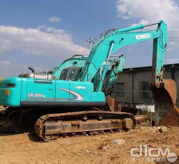 刘老板的神钢SK350超8挖掘机