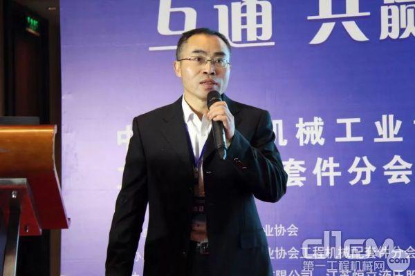 上海博世力士乐液压及自动化有限企业高级应用经理唐定有作主题演讲