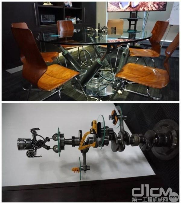 Probesco在办公室放置的零部件制作的家具