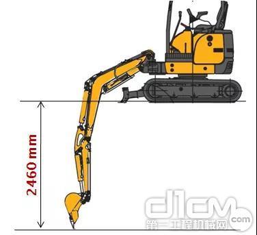 挖掘深度2460mm