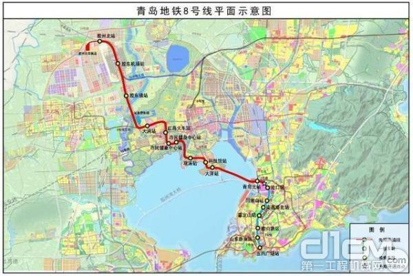 青岛地铁8号线示意图