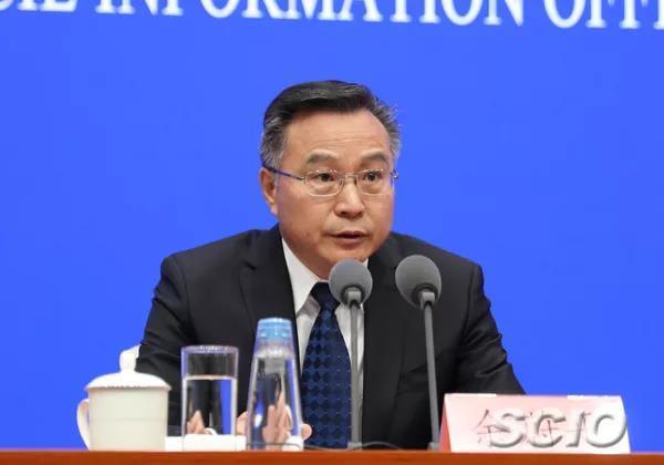财政部副部长余蔚平(刘健 摄)