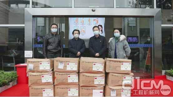 △中联重科向长沙高新区捐赠防护口罩