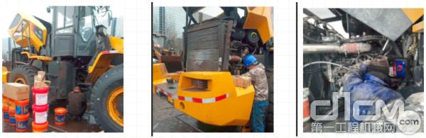 柳工服务工程师为用户设备进行检修