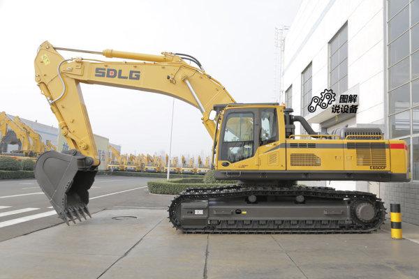 山东临工E6500F挖掘机工作重量49.5t。