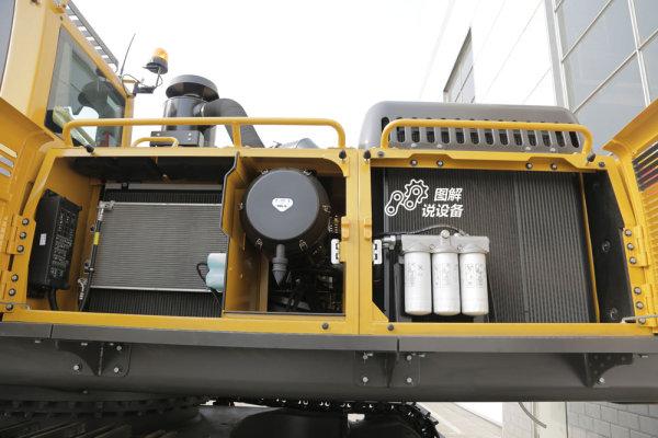 山东临工E6500F挖掘机采用立散热布局