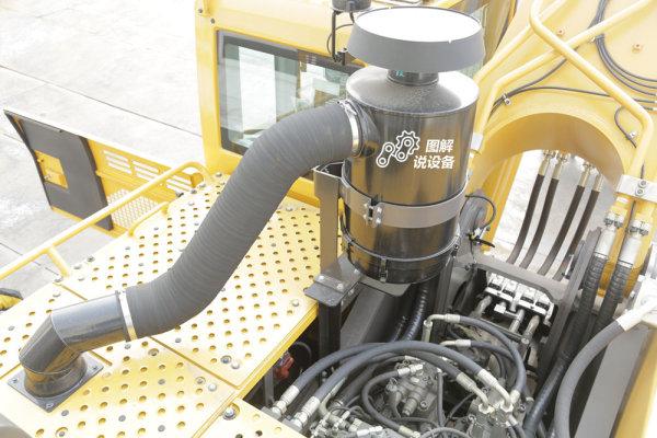 油浴式空滤+干式空滤,多层过滤减少发动机和挖机的损耗,使用寿命更长。