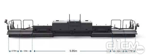 2月14日—疫情结束,购买RP803配置E600T熨平板,摊铺宽度最大可达9.15米。