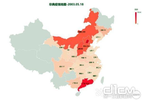 非典时期,中国内地累计病例5327例