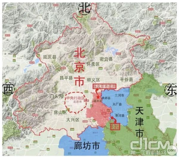京津冀地图