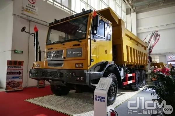 新一代非公路宽体自卸车漢沃XG90强势登陆BICES 2019