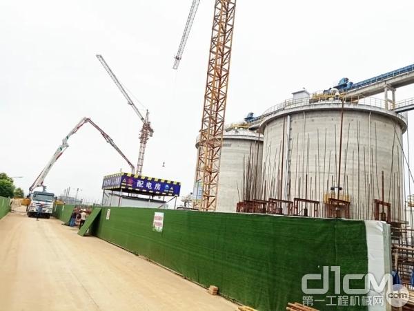 徐工V7系列泵车全程参与项目建设