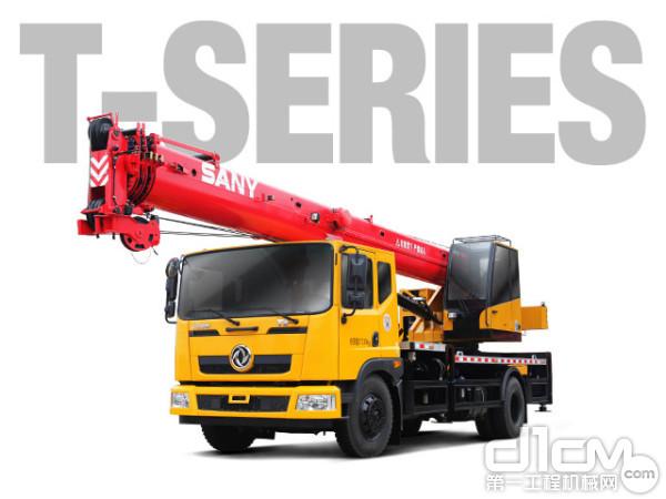 三一新款12吨<a href=http://product.d1cm.com/qichediao/ target=_blank>汽车起重机</a>SPC120T
