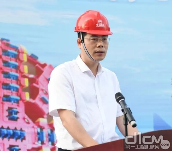 杭州市地铁集团有限责任公司副总工程师、 工程三部部长徐波致辞