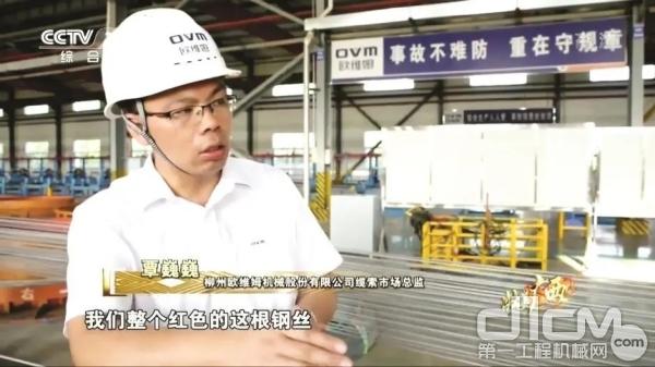 欧维姆公司国内营销副总经理 覃巍巍