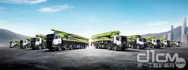 中联重科泵车产品一览