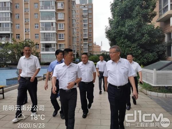 山河智能董事长何清华视察基础装备事业部云南分公司