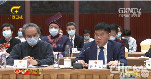 全国人大代表曾光安在广西代表团第一次审议政府工作报告中发言