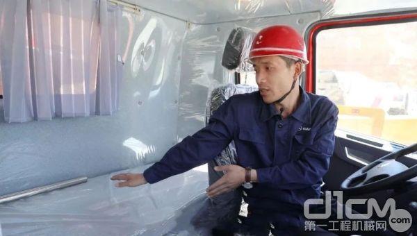 三一专用自制底盘泵车驾驶室内配备超宽63CM卧铺