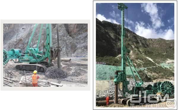 ▲世界最深70米的振冲碎石桩
