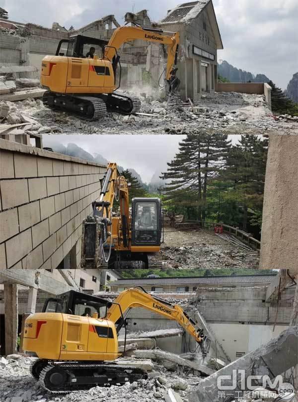 在黄山施工的CLG9075E