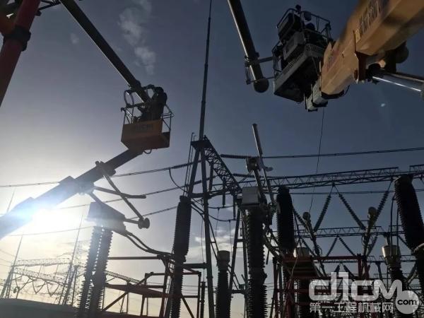 徐工专用车助力蒙西电网建设