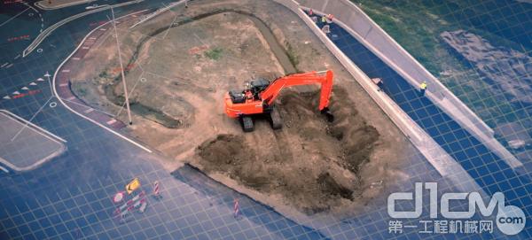 日立建机挖掘机施工