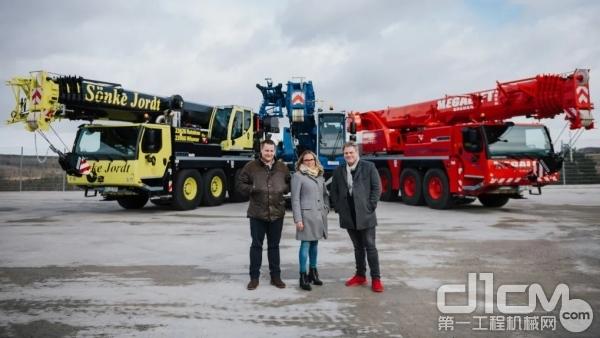 从左至右: 起重机承包商Sönke Jordt公司董事总经理Tim Jordt