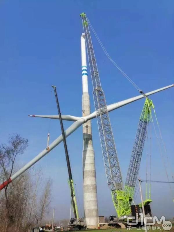中联重科ZCCZ9800W江苏扬州风电吊装