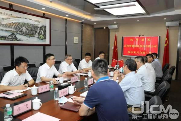 山河智能董事长何清华、总经理付向东一行到访广东华隧建设集团