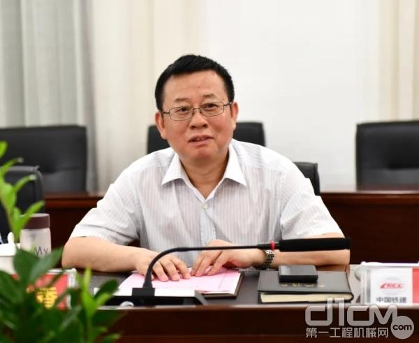铁建重工党委书记、董事长刘飞香作表态发言