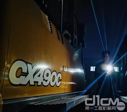 CX490C行走总成加装了防护系统