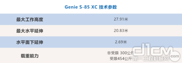 Genie S-85 XC 技术参数