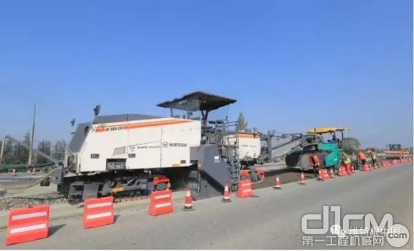 陕西省西安关中环线 W 380 CR 泡沫沥青就地冷再生应用