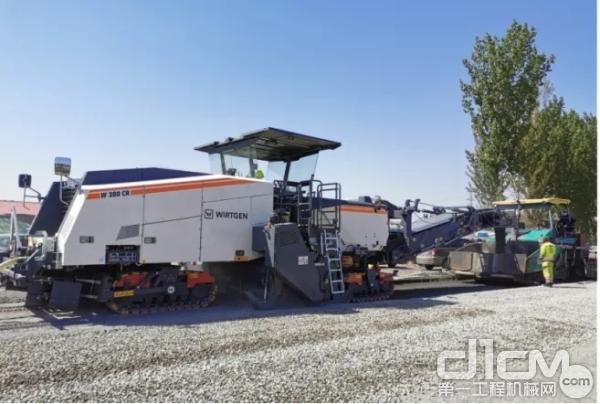 维特根W 380 CR水泥就地冷再生技术助力G205河北唐山段升级改造