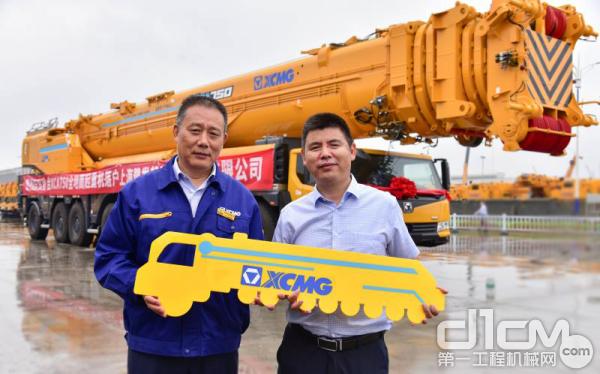 首台XCA750全地面起重机成功交付上海豫发起重设备安装有限公司