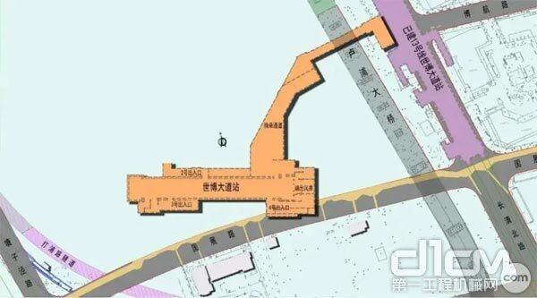 ▲上海市轨道交通19号线世博大道站、后滩站工程