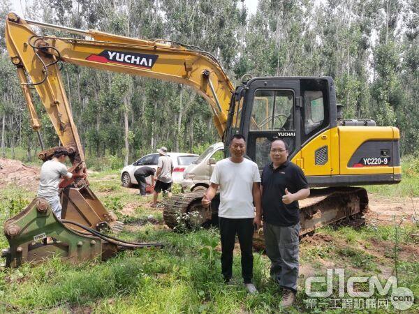 熊老板为玉柴挖掘机的质量和服务点赞
