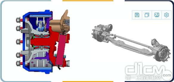 部分车型的车桥采用欧洲主流的FAG轮毂轴承单元