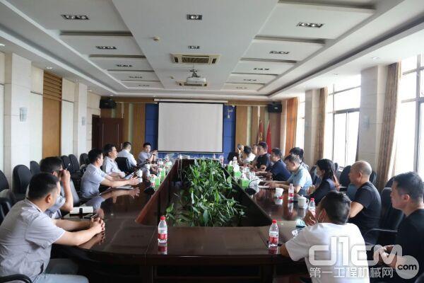 集团党委书记、董事长刘汉如与客户一行座谈交流