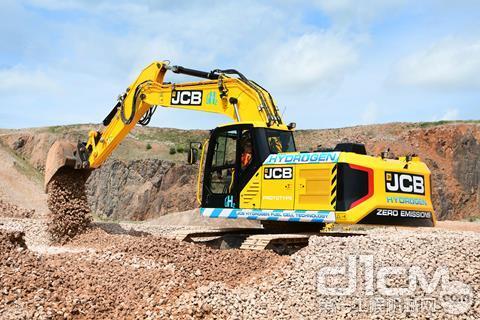 JCB的20吨氢动力挖掘机